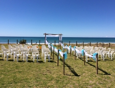 Wedding Ceremony by Pukehina Beach