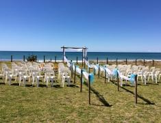Wedding Ceremony by Pukehina Beach