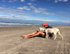 Pip and Goat on Beach