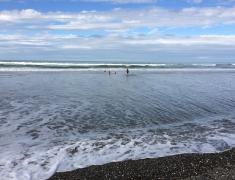 Children in Surf at Pukehina