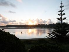 Sun setting by the Estuary